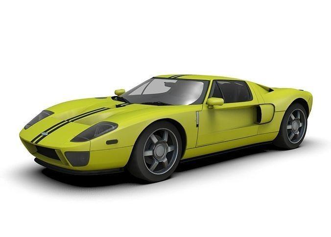 ford gt supercar 3d model max obj mtl 3ds fbx c4d dae 1