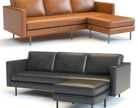 West Elm Axel Corner Sofa 3D