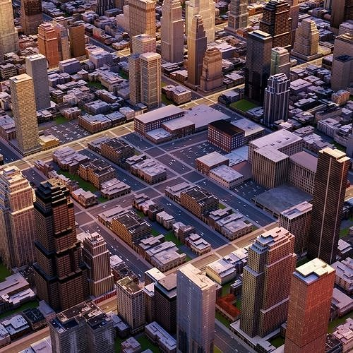 big city 56 3d model max obj mtl fbx ma mb tga 1
