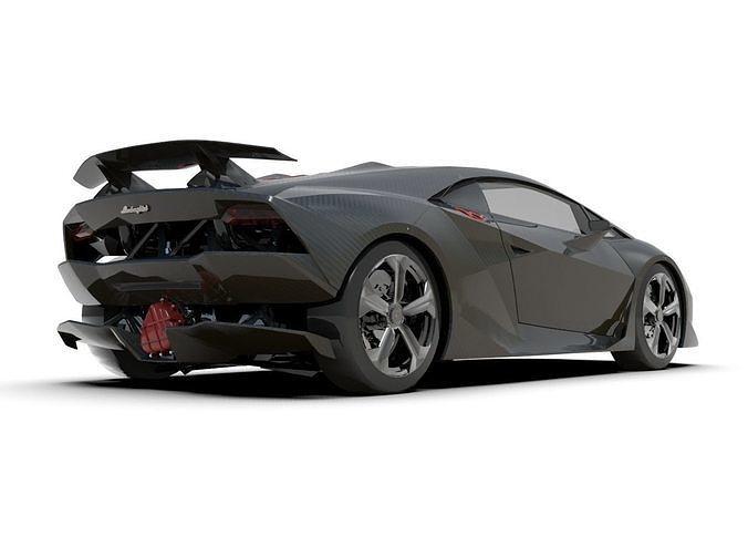 3d Asset Lamborghini Sesto Elemento Supercar Cgtrader