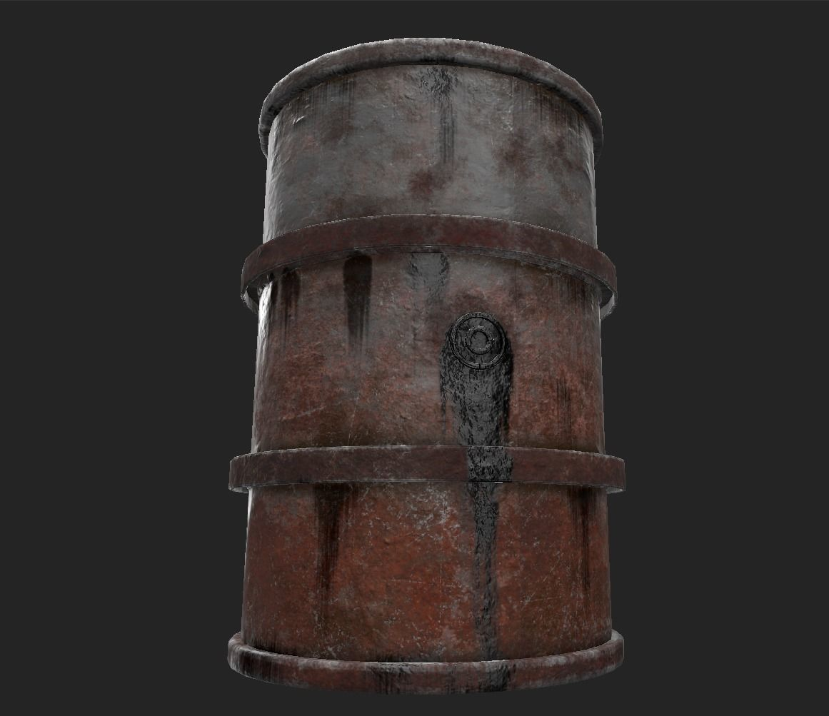 Fuel barrel - Low poly - UE4 2048k - Low poly model