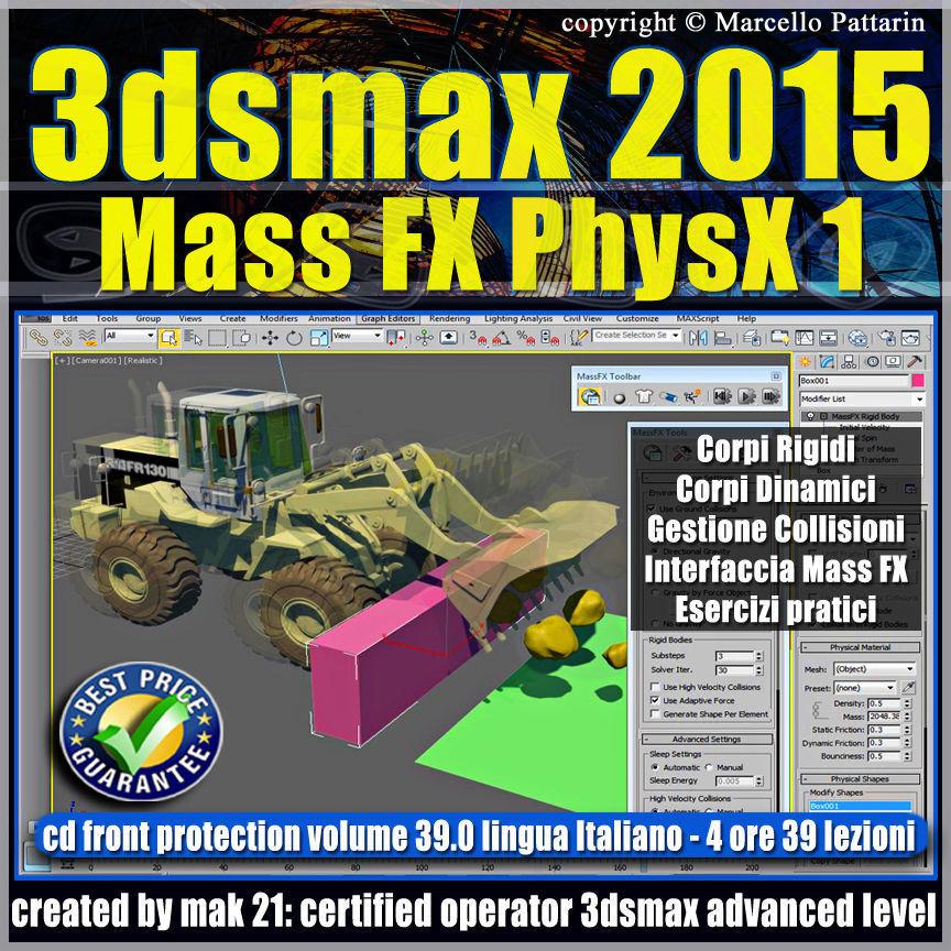 3ds max 2015 Mass Fx PhysX v 39 Italiano cd front