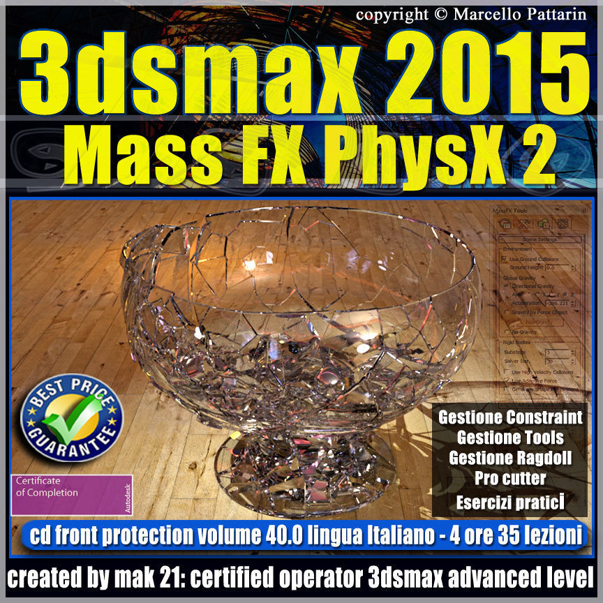 3ds max 2015 Mass Fx PhysX v 40 cd front
