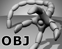 Robot Mechanic Arm OBJ - style two 3D Model