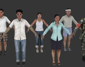 Asian 3D Human pack VR / AR ready