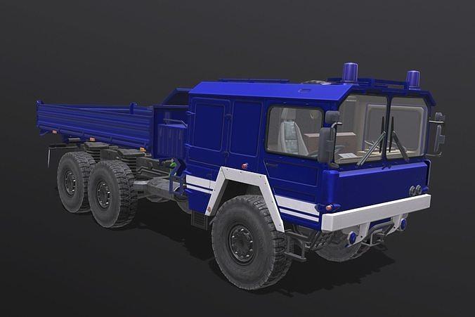 man kat truck 3d model obj mtl fbx blend 1