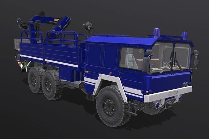 man kat truck-crane 3d model obj mtl fbx blend 1