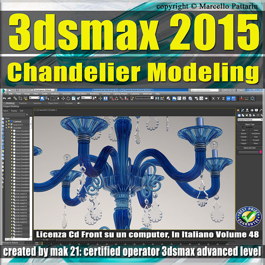 Video Corso 3ds max 2015 Chandelier Modeling vol 48 CD front