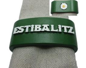 3D printable model ESTIBALITZ Napkin Ring with daisy