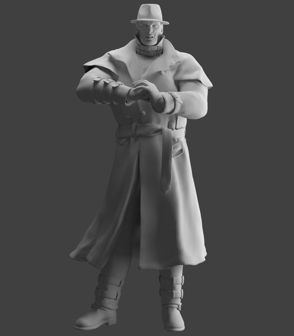 Mr X From Resident Evil 2 Remake 3d Print Model Cgtrader