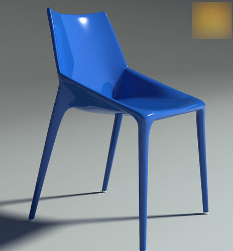chair outline blu 3d model max 1