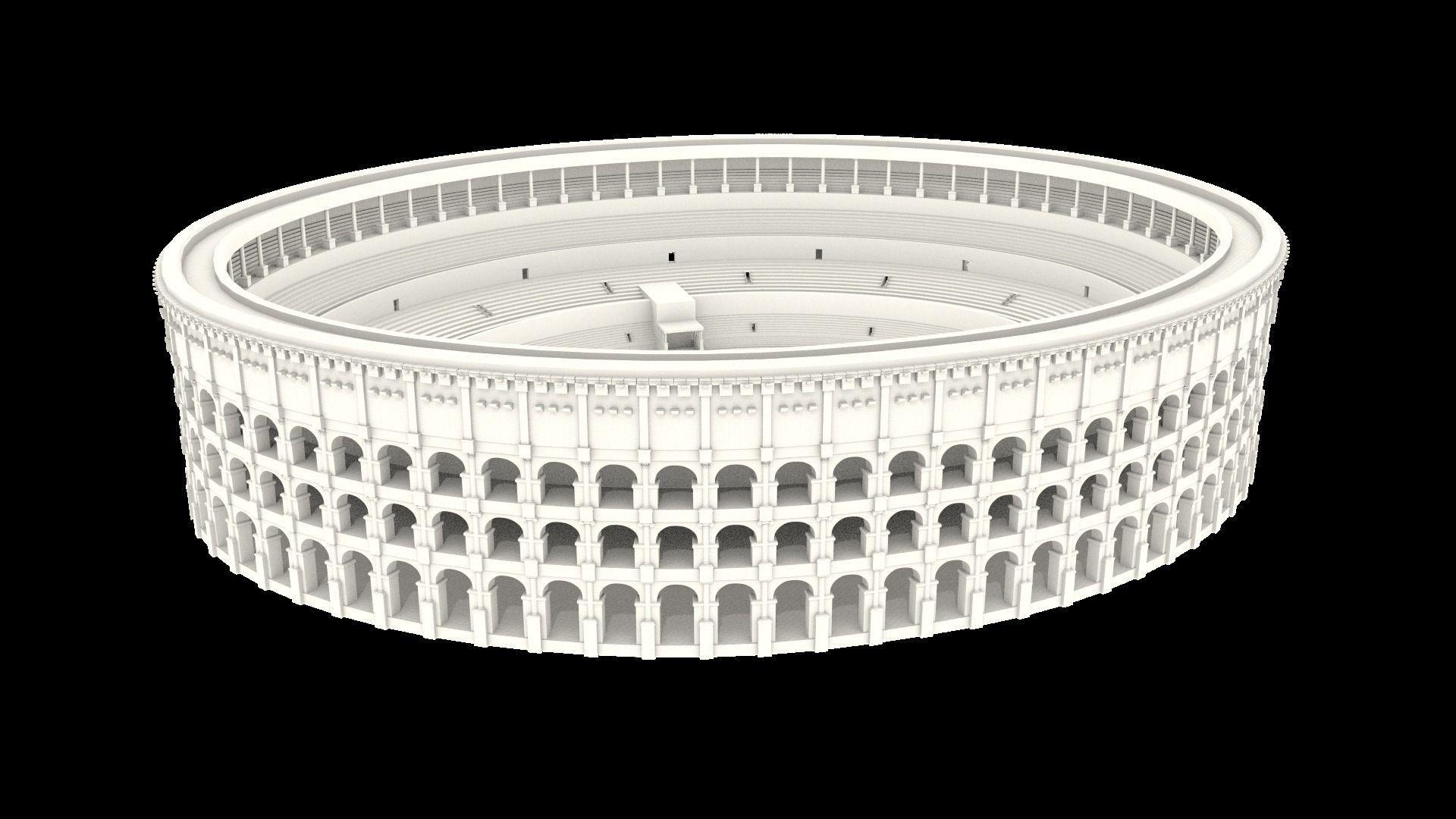 3D Colosseum Of Rome