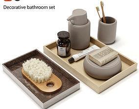 3D model Decorative bathroom set