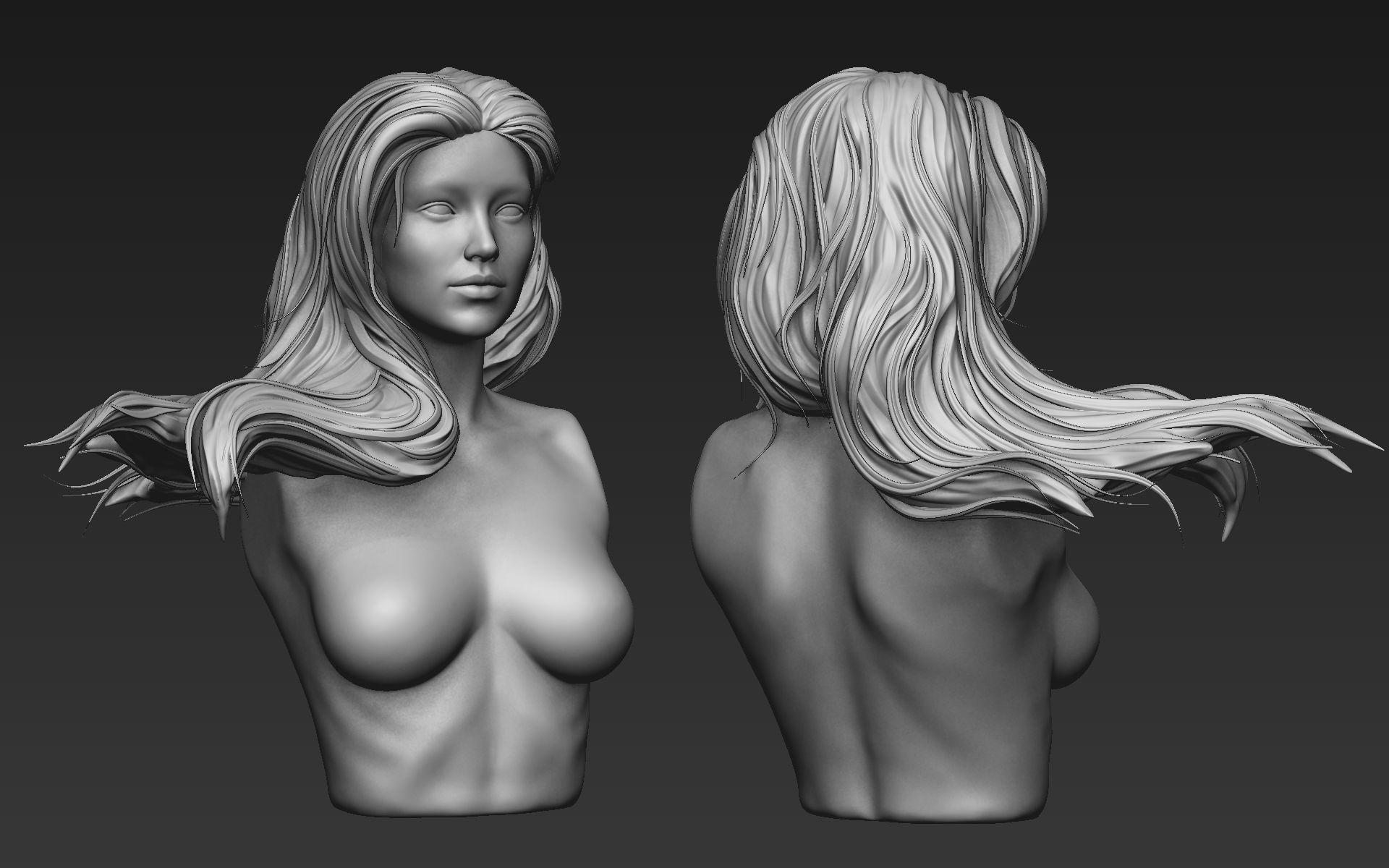 Zbrush Hair Sculpt 05