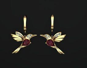birds earring 3D print model