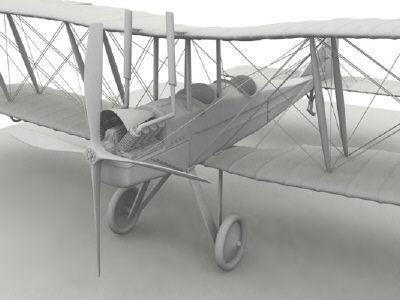 Royal Aircraft Factory BE2c no material