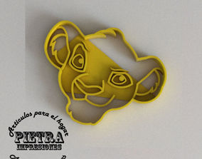 3D printable model SIMBA MOLDE CORTANTE PARA GALLETAS 3