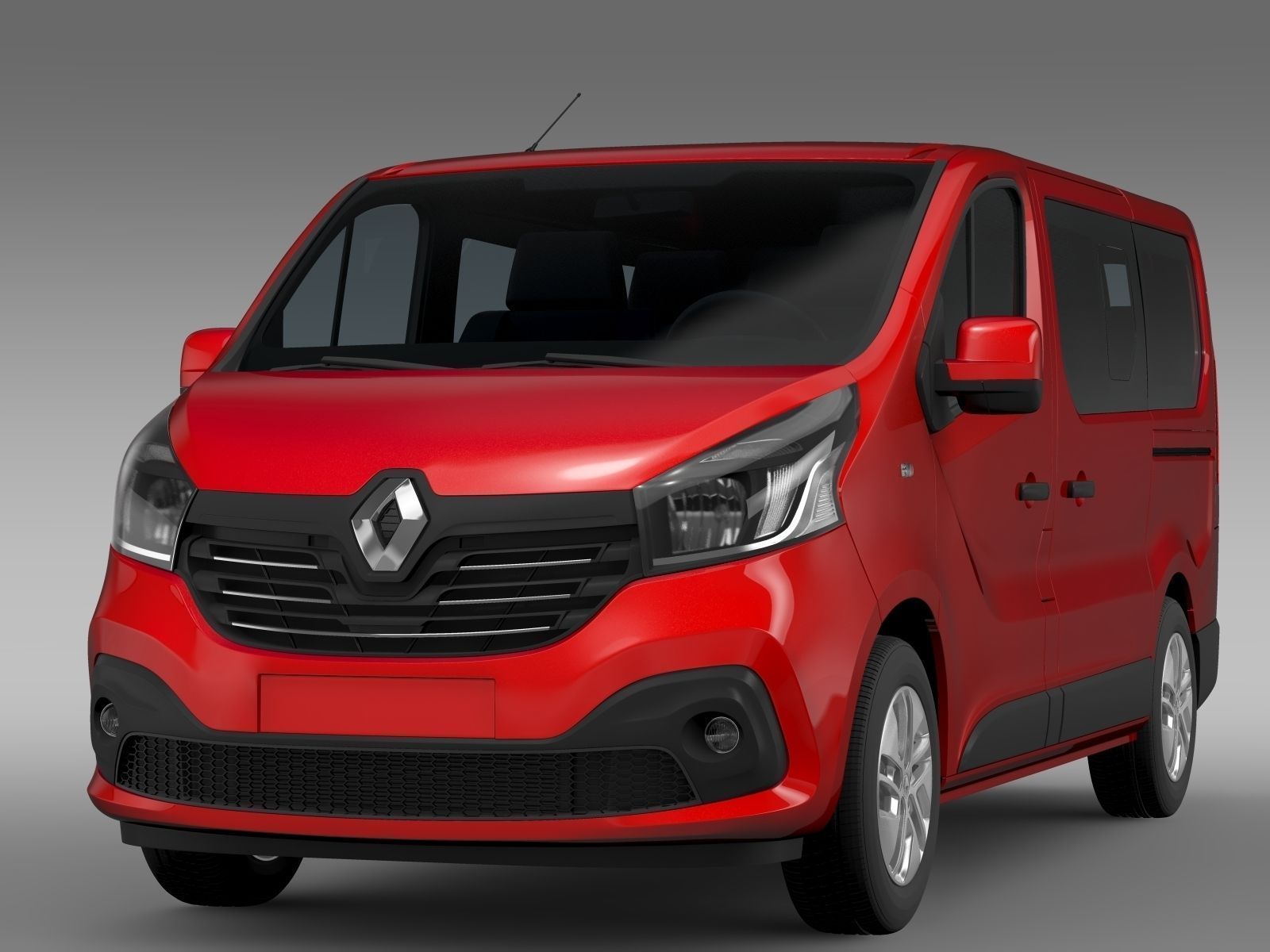 renault trafic minibus 2015 3d model max obj 3ds fbx c4d lwo lw lws. Black Bedroom Furniture Sets. Home Design Ideas