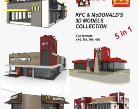 KFC and McDonalds 5 in 1 Collection 2 3D model
