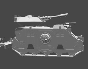 3D printable model Warhammer 40K inspired Rhino Land 4