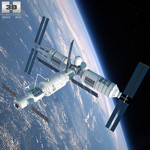 tiangong-1 space station 3d model max obj mtl 3ds fbx c4d lwo lw lws 1