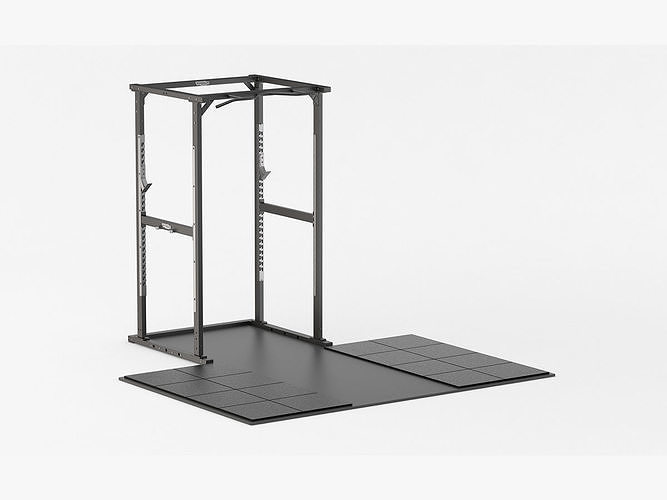 technogym olympic power rack 3d model max obj mtl 3ds fbx c4d ma mb 1