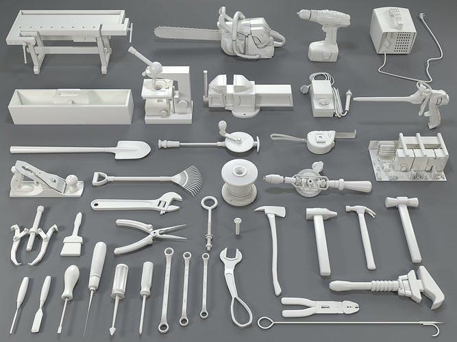 tools - 40 pieces - collection-1 3d model max obj mtl fbx stl 1