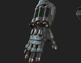 3D asset Gloves Scifi ver 8