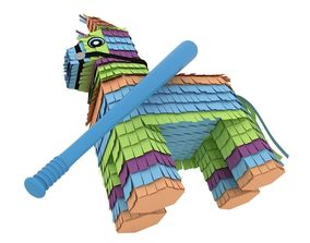 3D Pinata With Bat