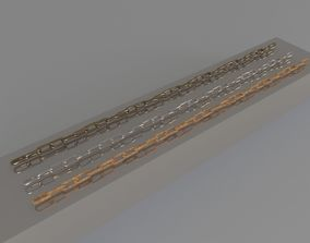 3D model barbed chain
