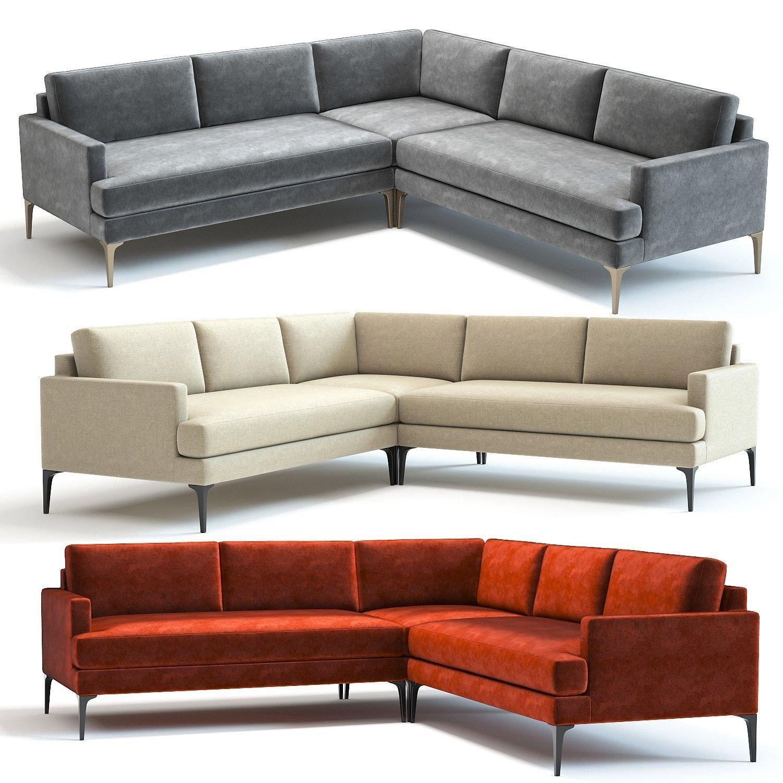 West Elm Andes L-Shaped Sofa | 3D model