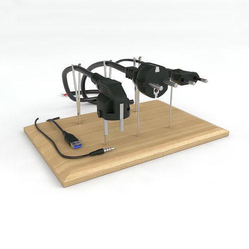 electrical plugs 220v 3d model max obj mtl 3ds fbx dwg 1