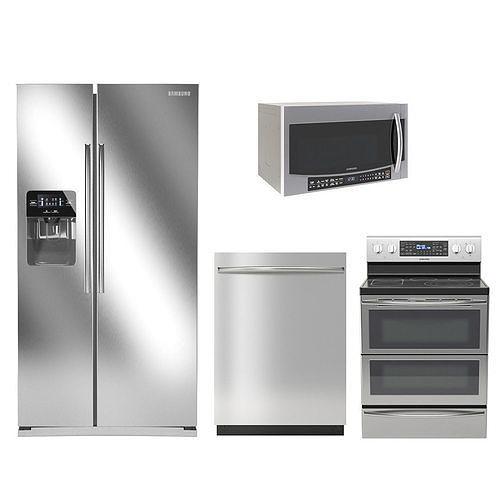samsung kitchen appliances 3d model max obj mtl fbx 1