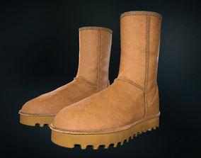 3D asset UGG Classic Short II Boots