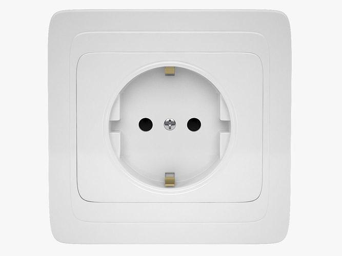 power socket 3d model max obj mtl fbx 1