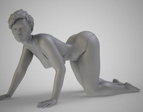 3D print model Woman Moveing on Hands and Knees