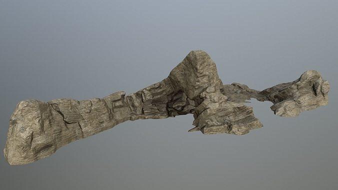 rocks  3d model low-poly obj mtl fbx blend 1