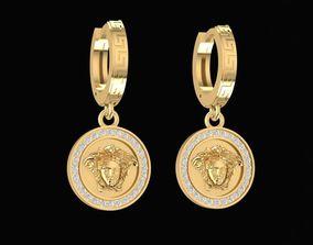 3D print model 1485 Versace Diamond Earrings v2
