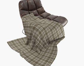 leather restchair 3D model