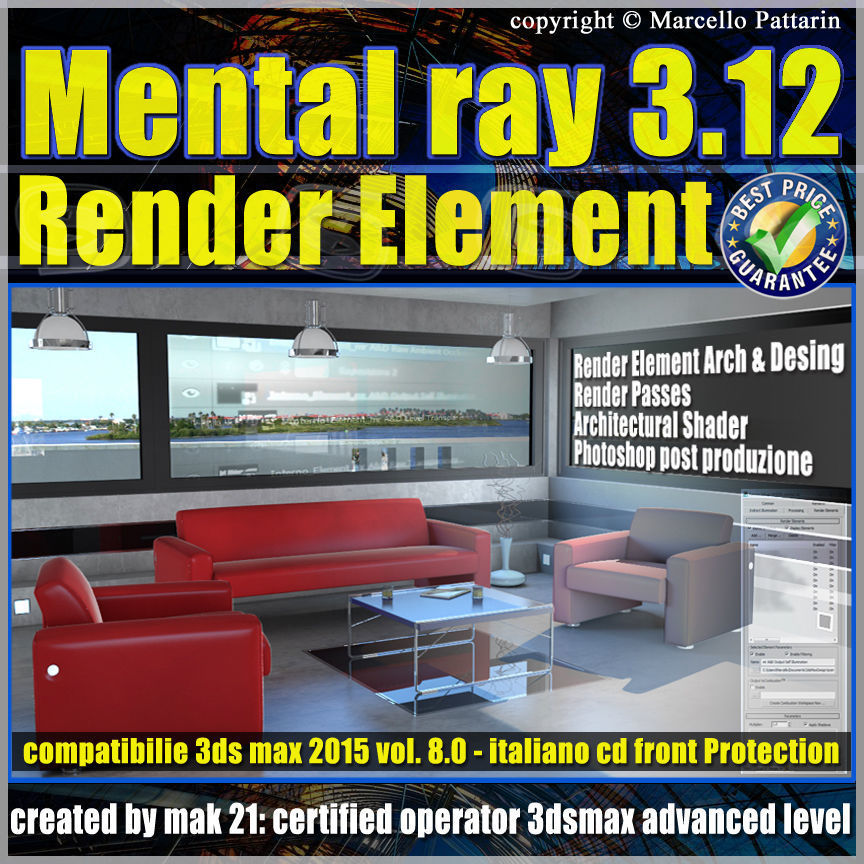 Mental ray 3 12 in 3dsmax 2015 Vol 8 Render Element cd front
