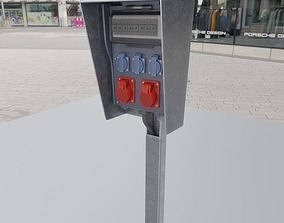 Industrial Distribution Socket Box High-Poly 3D model