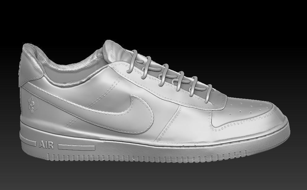 Nike Air Shoe Model with laces for 3d printing
