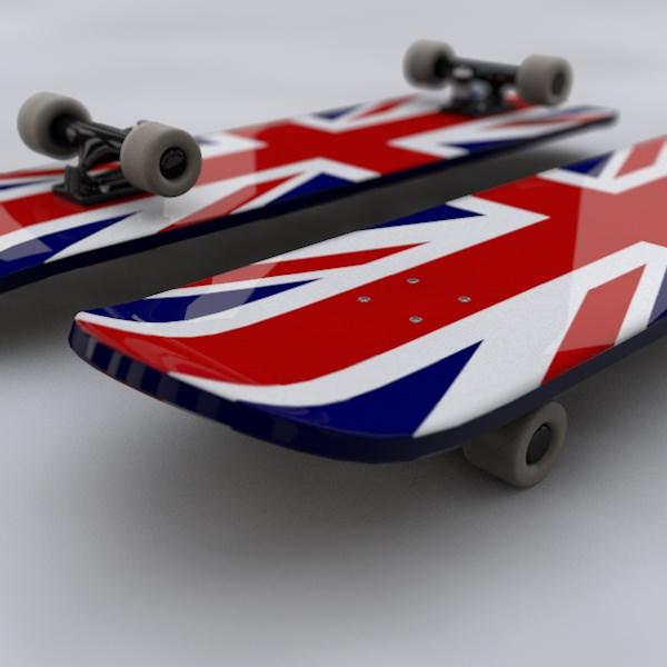 Skateboard 3d model 3d model obj 3ds fbx c4d - Skateboard mobel ...