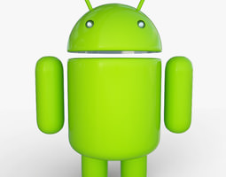 android mascot 19266 3d model max obj 3ds dxf