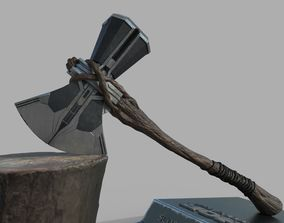 REALISTIC AXE STORMBREAKER THOR - HI AND 3D model