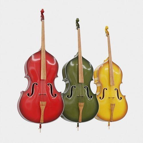 double bass 3d model max obj mtl fbx 1