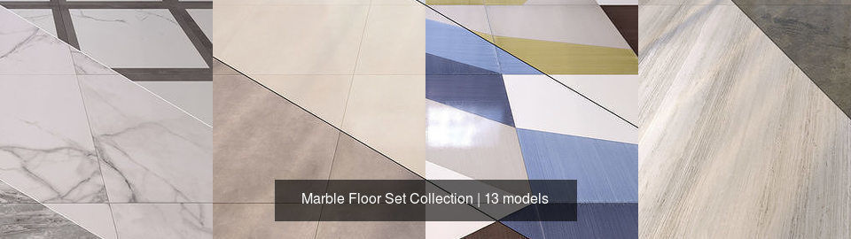 Covering Marble Floor Set Collection 3d Model Cgtrader