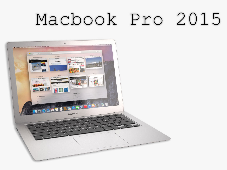 The New MacBook Pro 2015 3D Model .max .obj .fbx .mtl