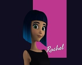 Rachel Stylized Teen Female Character 3D model teenage