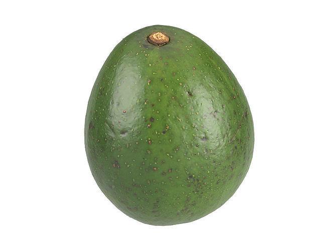 photorealistic avocado 3d scan 3 3d model obj mtl fbx c4d 1